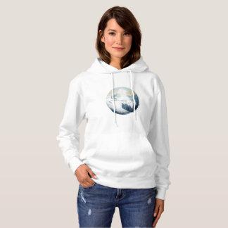 Winter Mountain Ski Slope, Women's Hoodie
