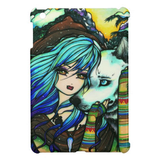 Winter Mountain Snow Vampire Wolf Girl Fantasy Art iPad Mini Cases