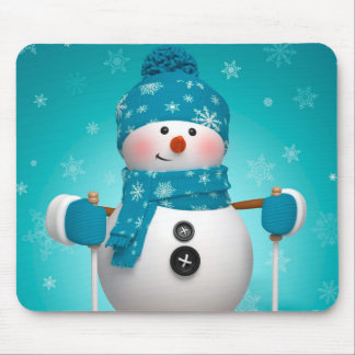 Winter Mouse pad/Snowman Mouse Pad