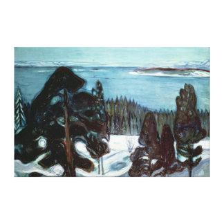 Winter Night, 1900 Canvas Print
