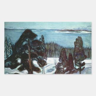 Winter Night, 1900 Rectangular Sticker