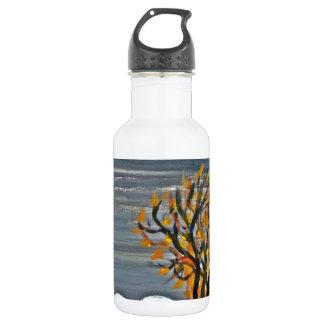 Winter night by the lake 532 ml water bottle