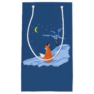 Winter Night Fox Small Gift Bag
