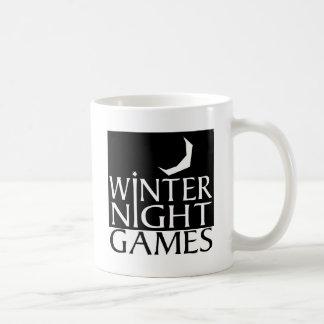 Winter Night Games logo Basic White Mug