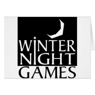 Winter Night Games logo Greeting Card