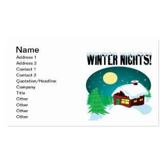 Winter Nights 2 Pack Of Standard Business Cards