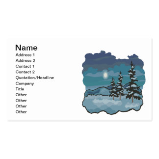 Winter Nights Pack Of Standard Business Cards