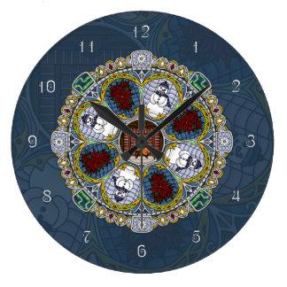 Winter Nouveau Clock