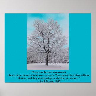 Winter Oak Poster w/ Quote