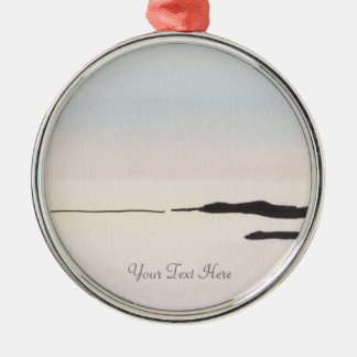 Winter Ocean Sky Christmas Ornament