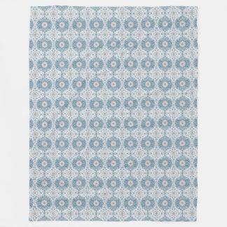 Winter Ogee Pattern Fleece Blanket