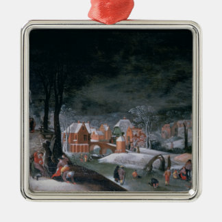 Winter (oil on panel) (see also 166905, 166906, 16 christmas ornament
