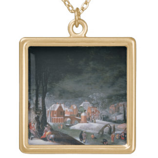 Winter (oil on panel) (see also 166905, 166906, 16 gold plated necklace