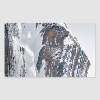 Winter on Mt Timpanogos - Sundance - Utah Rectangular Sticker