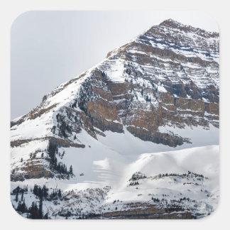 Winter on Mt Timpanogos - Sundance - Utah Square Sticker