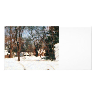 Winter on My Street Customized Photo Card