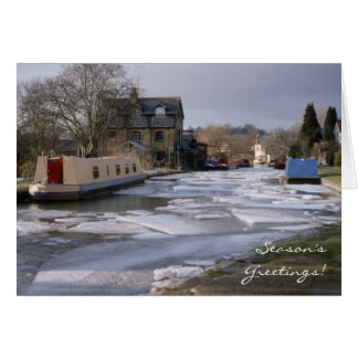 Winter on the canal Christmas Cards