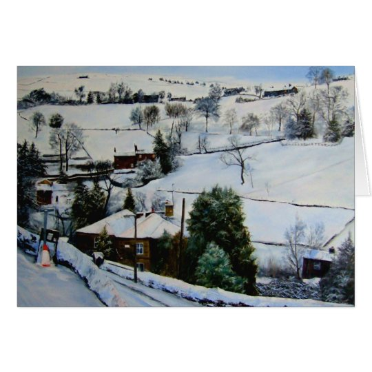 Winter on the moors card