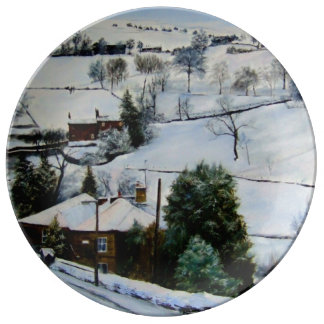 Winter on the moors. plate