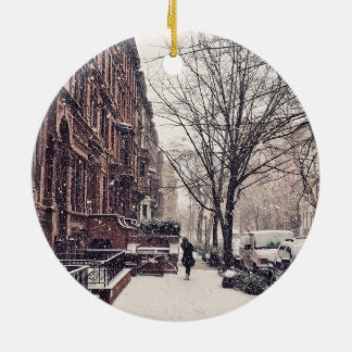 Winter On The Upper West Side Christmas Ornament