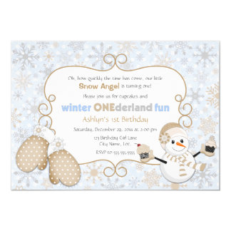 Winter One-derland 1st Birthday Invitation