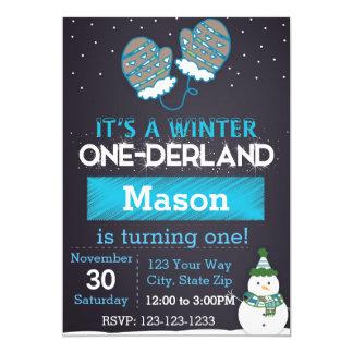 Winter One-derland (blue) Card