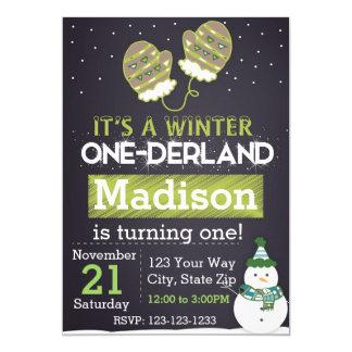 Winter One-derland (green) Card