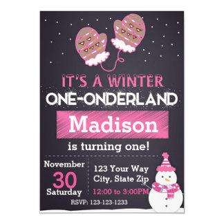 Winter One-derland (pink) Card
