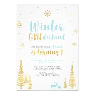 Winter Onederland 1st Birthday Invitation - Boy