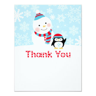 Winter ONEderland Birthday | Flat Thank You Note 11 Cm X 14 Cm Invitation Card