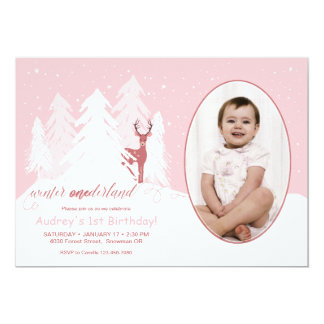 Winter Onederland Custom Birthday Invitation
