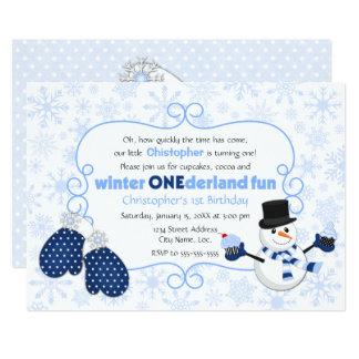 Winter ONEderland Snowman Birthday Card