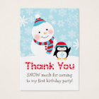 Winter ONEderland   Thank You Favour Tags