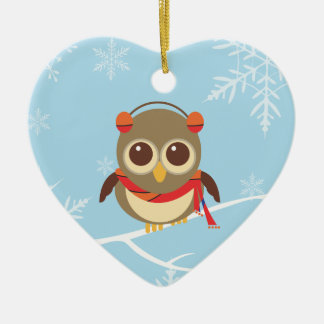 Winter Owl Christmas Ornament