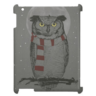 Winter owl iPad cover