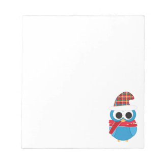 Winter Owl Notepad