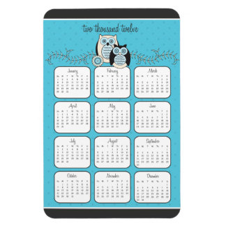 Winter Owls 2012 Calendar Magnet