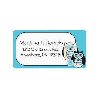 Winter Owls Address Labels