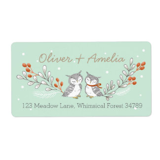 Winter Owls Address Labels