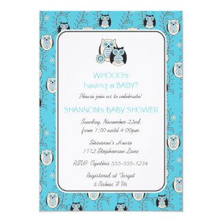 Winter Owls Baby Shower Invitation