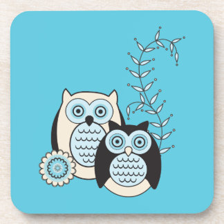 Winter Owls Coasters Set