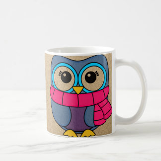 Winter owls coffee mug