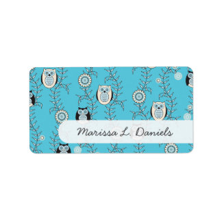 Winter Owls Name Labels