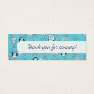 Winter Owls Party Favor Tags