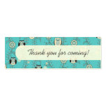Winter Owls Party Favour Tags Pack Of Skinny Business Cards