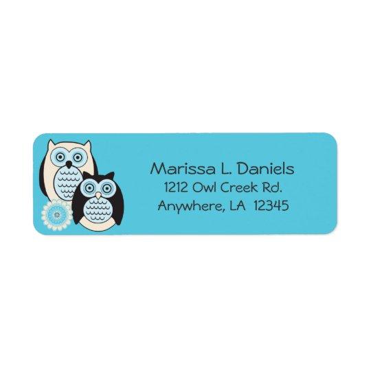 Winter Owls Return Address Labels