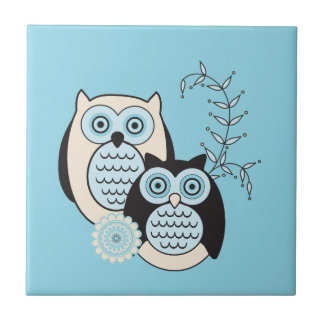 Winter Owls Tile