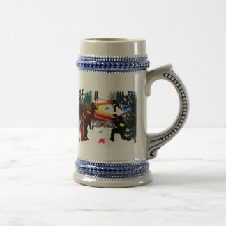 Winter Paintball in the Woods Beer Stein