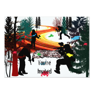 Winter Paintball in the Woods Card
