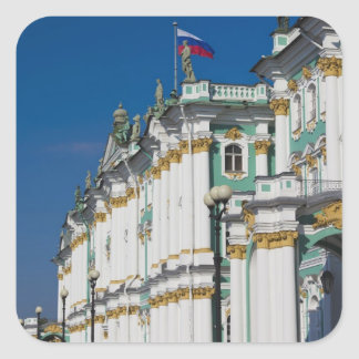Winter Palace and Hermitage Museum Square Stickers